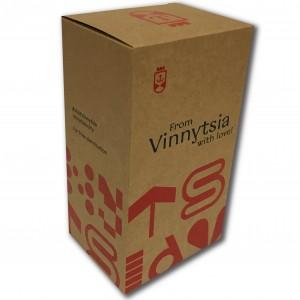 Коробка из крафт-картона для баночек с медом и джемом